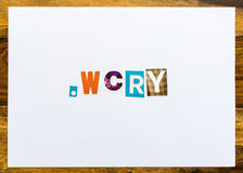 .wcry - note on desk Stock Photos