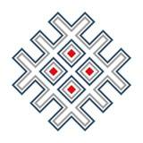 Wcześni slavic symbole Zjednoczenie słońce i ziemia fotografia stock