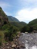 wcześniej robił halnemu jesieni zdjęcie biegunowemu strumieniowi góry Zdjęcia Stock
