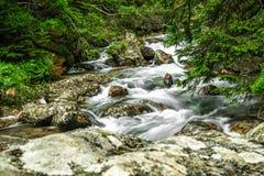 wcześniej robił halnemu jesieni zdjęcie biegunowemu strumieniowi góry Obrazy Royalty Free
