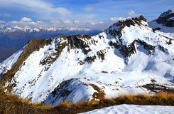 Wczesna jesień w górach Krasnaya Polyana Obrazy Royalty Free