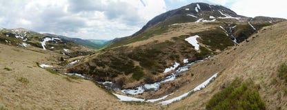 wczesna krajobrazowa halna wiosna Zdjęcie Stock