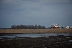 Wczesna wiosna na gospodarstwie rolnym Fotografia Stock