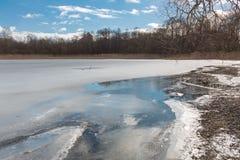 Wczesna wiosna na jeziorze Fotografia Stock