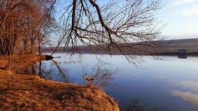Wczesna wiosny natura na rzece, Ukraina, Vinnytsya region obrazy stock