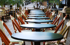 wczesnego poranku restauraci chodniczek Obraz Stock