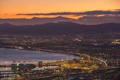 Wczesnego poranku schronienia wschód słońca w Capetown Południowa Afryka fotografia royalty free