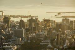 Wczesnego poranku schronienia wschód słońca w Capetown Południowa Afryka fotografia stock