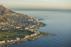 Wczesnego poranku schronienia wschód słońca w Capetown Południowa Afryka zdjęcia stock