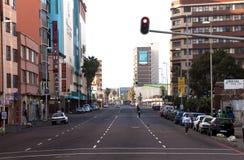 Wczesnego Poranku widok Smith ulica, Durban Południowa Afryka Obraz Stock