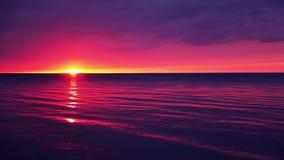 Wczesny świt nad Spokojnym Seawater zdjęcie wideo