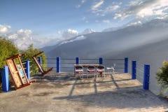 wczesny ghode ranek Nepal pani obraz royalty free