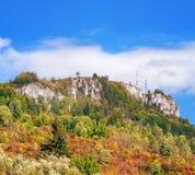 Wczesny jesień widok Tupa Skala, Sistani zdjęcia royalty free