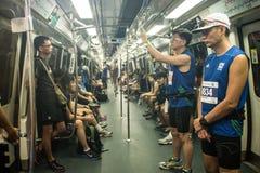 Wczesny pociąg usługa Standard Chartered maraton Obrazy Royalty Free