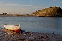 Wczesny poranek, Alnmouth plaża i zatoka, Fotografia Stock