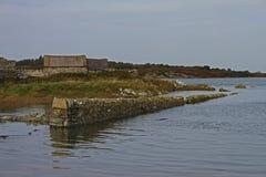 Wczesny Poranek blisko Cztery mil mosta, Anglesey zdjęcia stock