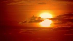 Wczesny poranek czerwieni świt zdjęcie wideo
