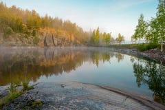 Wczesny poranek jeziorem Obraz Stock