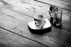 Wczesny Poranek kawy monochrom Obraz Royalty Free