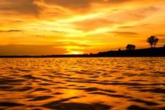 Wczesny poranek na jeziorze Obrazy Stock