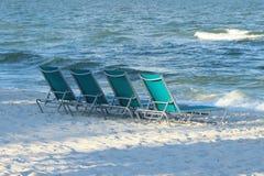 Wczesny Poranek Na plaży Zdjęcia Royalty Free
