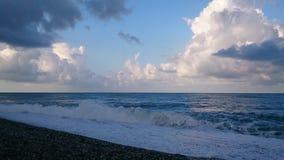 Wczesny poranek przy plażą obrazy royalty free