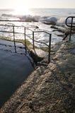Wczesny poranek skały basen obrazy royalty free