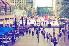 Wczesny poranek w Canary Wharf aria Obraz Stock