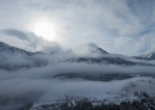 Wczesny poranek w Francuskich alps Obraz Royalty Free