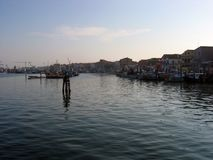 Wczesny poranek w zatoce Wenecja fotografia royalty free