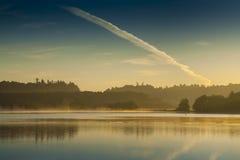 Wczesny poranek złota godzina przed wschodem słońca fotografia stock