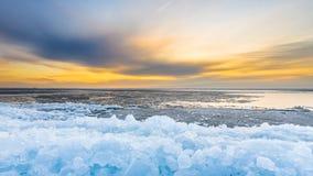 Wczesny poranek zimy krajobraz Obraz Royalty Free