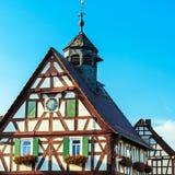 Wczesny urząd miasta w niemieckiej wiosce fotografia royalty free