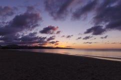 Wczesny wschód słońca na plaży Fotografia Royalty Free