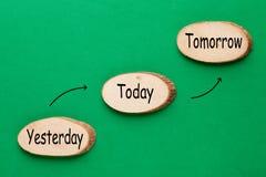 Wczoraj Dzisiaj Jutro ilustracji