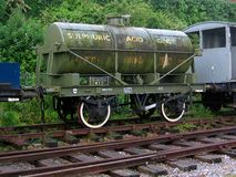 WD Sulphuric Acid Tank Wagon Royalty Free Stock Photo