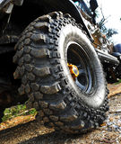 4wd tyre. 4x4 tyre ready to move Royalty Free Stock Image