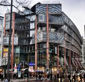 WDR Arcade Shopping Centre in Cologne, Germany. WDR Arcaden - one of the most interesting and innovative shopping centers in Cologne. It is a modern building Stock Photography