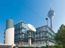 WDR-Gebäude in Dusseldorf Stockbild