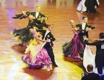 WDSF International style of Ballroomdancing Royalty Free Stock Photos