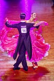 WDSF International style of Ballroomdancing Royalty Free Stock Images