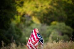 Wdzięczny dla wolności, świętujący dzień niepodległości Zdjęcia Royalty Free