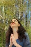 Wdzięczny ono modli się obrazy royalty free