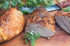 wędzone mięso Fotografia Stock
