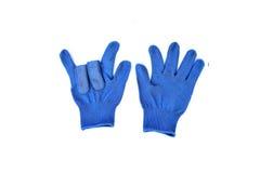 Wełien rękawiczki odizolowywać na bielu Fotografia Stock