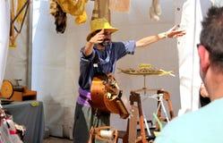 Wełna muzyk i rolnik jesteśmy powitaniem jego widzowie obrazy royalty free