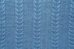 Wełny tkaniny wzór barwiący w błękicie Zdjęcie Royalty Free