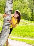 weź kobietę birch radosny young Obraz Stock