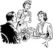 weź zamówienie kelnerkę Zdjęcie Royalty Free