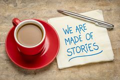 Free We Are Made Of Stories - Storytelling Concept Royalty Free Stock Images - 163983269